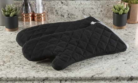 Lavish Home Flame- and Heat-Resistant Quilted Oven Mitt (2-Pack)
