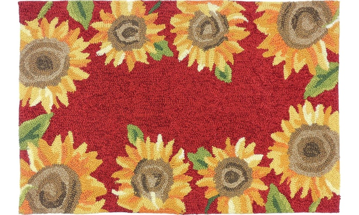 Homefires Rugs Pps Jb111b Sunflower Field Area Rug 22 X 34 In