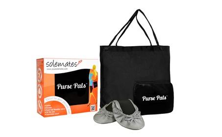 Solemates Purse Pals Foldable Ballet Flats w/ Expandable Tote Bag (Goods Women's Fashion Shoes) photo