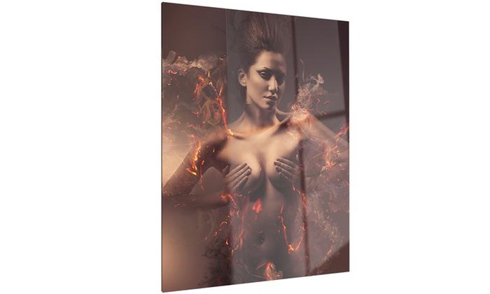 Erotic Sexy Woman Sensual Contemporary Metal Wall Art 12x28 ...  sc 1 st  Groupon & Erotic Sexy Woman Sensual Contemporary Metal Wall Art 12x28 | Groupon
