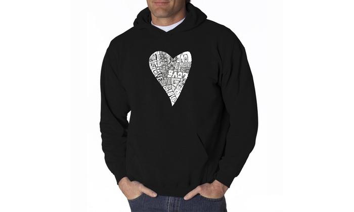 Men's Hooded Sweatshirt - Lots of Love
