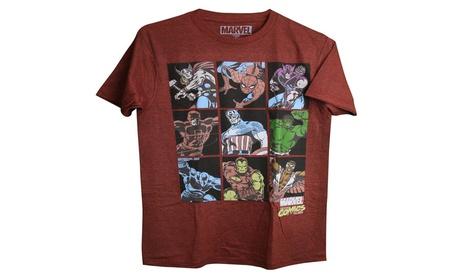 Gtesw Marvel Superheroes 9 Character Grid Thor, Hulk, Adult Tee