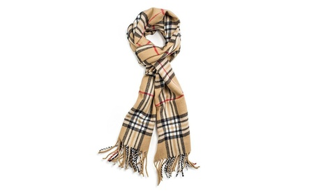 Unisex Camel Plaid Shawl Pashmina Mens Womens Scarf Cape Best Gift dc788e75-b057-487a-9afe-eb439c0bf55b