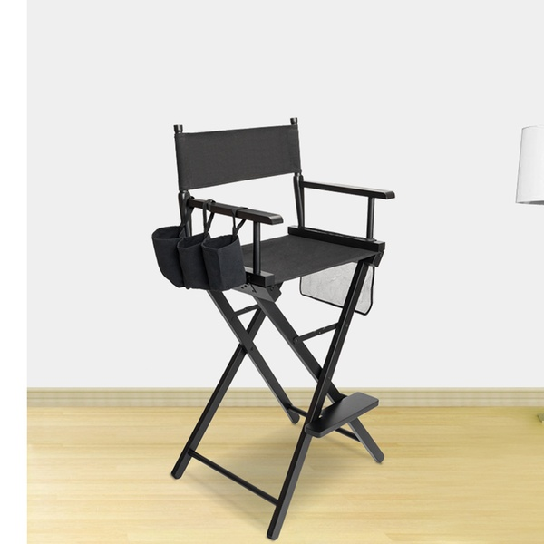 High Quality Solid Hardwood & Polyester Folding Makeup Chair