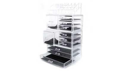Shop Groupon Storage Makeup Organizer Cosmetic Case Box Acrylic Jewelry Display