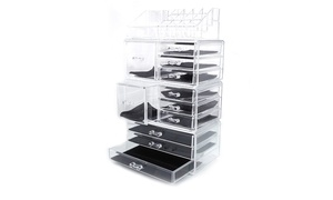 Storage Makeup Organizer Cosmetic Case Box Acrylic Jewelry Display at Wmart, plus 6.0% Cash Back from Ebates.