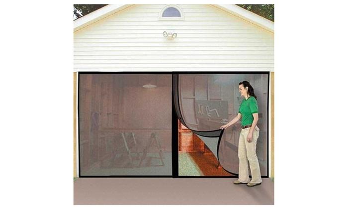 Up To 51% Off on Instant Double Garage Door Sc...   Groupon Goods Garage Door With Screen on motorcycles with screens, garage doors door, garage doors hardware, shutters with screens, electronics with screens,