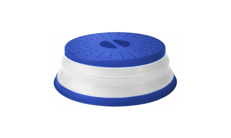 Tovolo Collapsible Microwave Food Cover, Dishwasher-Safe, BPA-Free, Stratus Blue photo