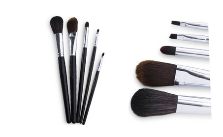 5 Multi-sized Makeup Brush Set For Professional Make Up At Home