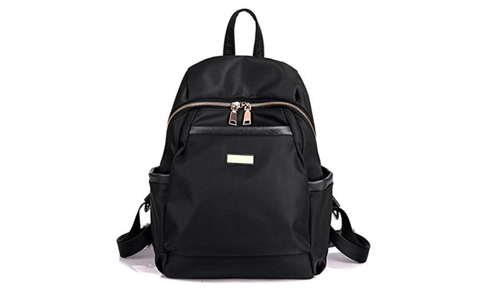 Luckysmile Water Resistant Nylon Backpack Purse Casual Daypack for ...