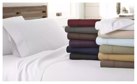 Premium Bamboo 6-Piece Bed Sheet Set in 13 Colors