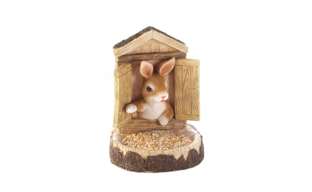 Bunny Rabbit House Bird Feeder Wall Hanging 9.62