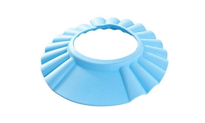 baby shower cap children shampoo bath wash hair shield hat groupon. Black Bedroom Furniture Sets. Home Design Ideas
