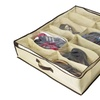 ZizHome Under Bed Shoe Organizer for Kids and Adults (12 Pairs )