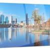 Orlando Morning Cityscape Photo Metal Wall Art 28x12