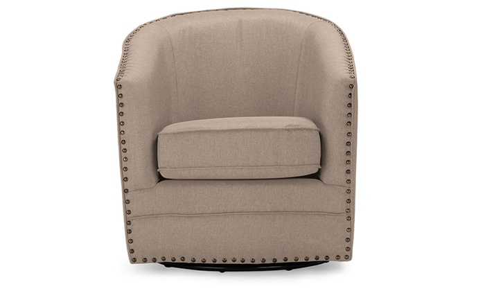 Porter Classic Upholstered Swivel Tub Chair | Groupon