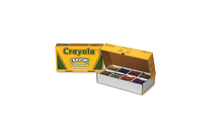 crayola 528038 classpack regular crayons 50 each of 8 colors groupon