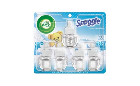 Air Wick Scented Oil 5 Refills, Snuggle Fresh Linen