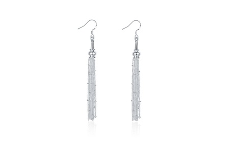 Solid Sterling Silver Drop Linear Drop Earring 7b8e6c2a-5fa8-4aad-8a89-ce1c3a4273a2