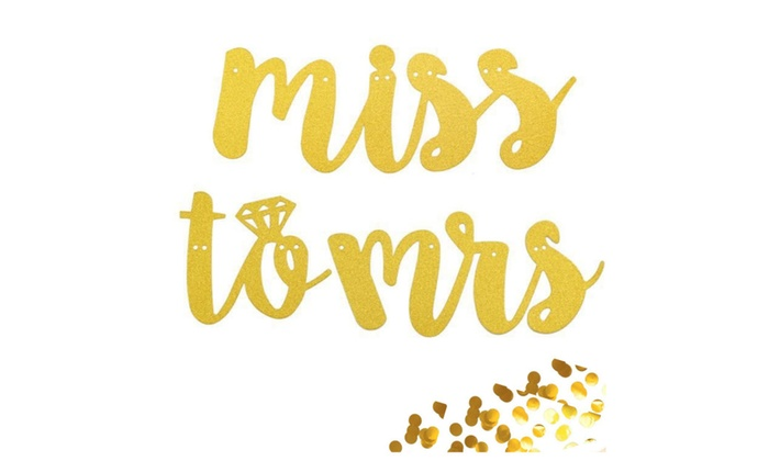 4502332c7c6 Bridal Shower Gold Banner  Miss To Mrs