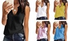 Womens Casual Sleeveless T-Shirt Camis Tank Tops. Plus Sizes Available.