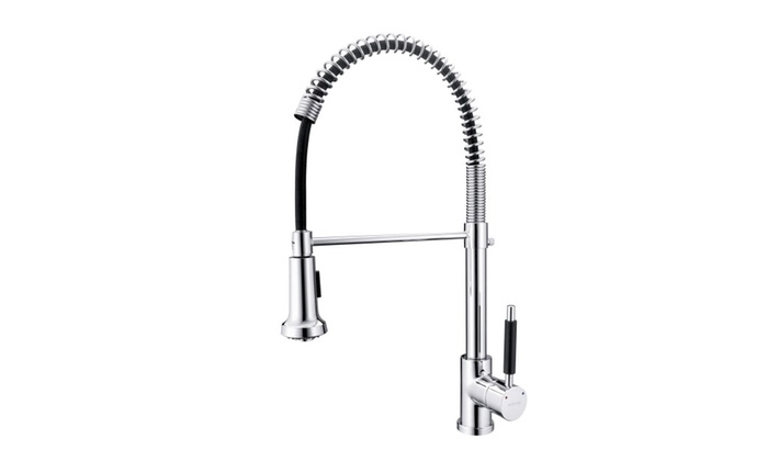 Pull Down Spring Kitchen Faucet With Multi Mode Sprayer For Sink