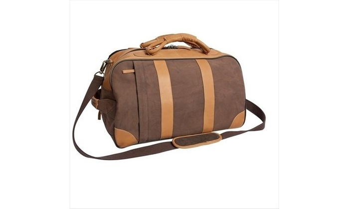 f6ea642eab9a ... Canyon Outback Leather CT308D 20 in. Stilson Canyon Leather and Canvas  Rolling D