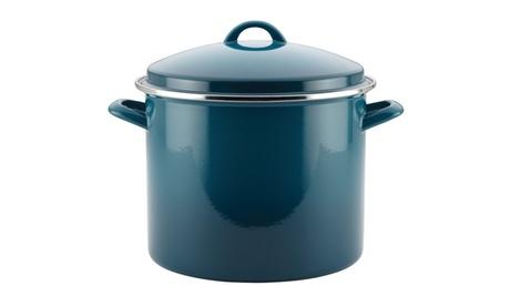 Rachael Ray Enamel on Steel 12qt. Covered Stockpot, Marine Blue 09e61506-73f7-480d-9ed0-117c1fd30b1d