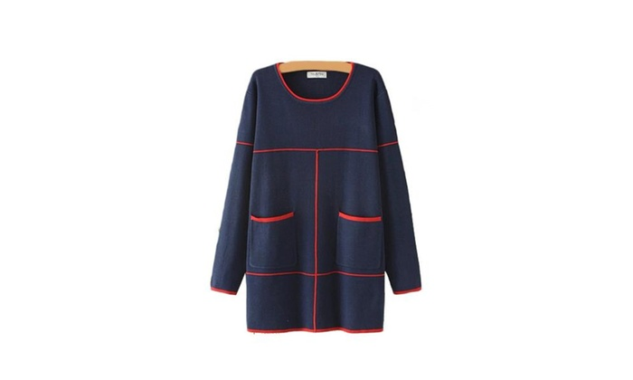 Women's Straight Hem Loose Fit New Arrival Pullovers