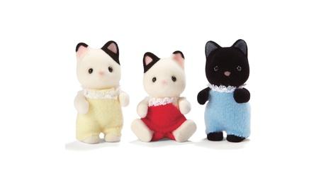 Calico Critters of Cloverleaf Corners - Tuxedo Cat Triplets 8689730f-7242-4566-9c88-2929687cfba7