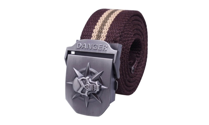 Syins Men's Women's Canvas Web Belt Military Style Belt