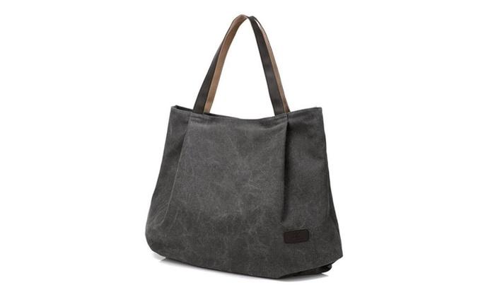 Women's Casual Handbag Big Shoppingbags Bucket Canvas Shoulder Bags