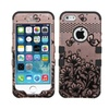 Insten Lace Butterfly 2 Layer Hybrid Shockproof Case For Iphone Se/5s
