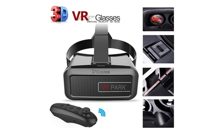3D Virtual Reality Glasses Adjustable VR Headset Hands Free+Controller b5595bd3-2850-4995-a99e-ff80f927d996