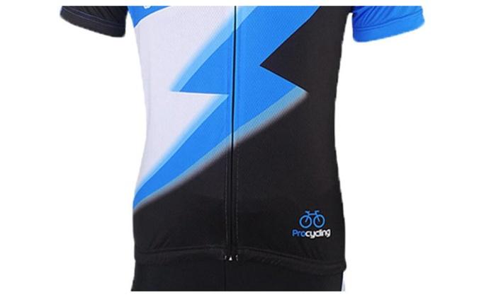 Men's Printed Short Sleeves Outdoor Cycling Jersey Short Sets