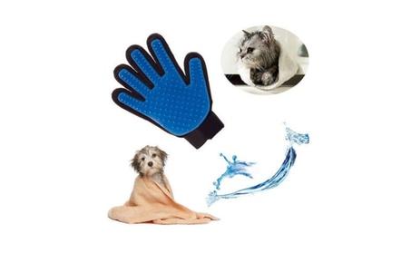 True Touch Deshedding Massage Glove Pet Dog Cat Grooming 263ef4e2-e627-4efa-b245-d83c38c30894