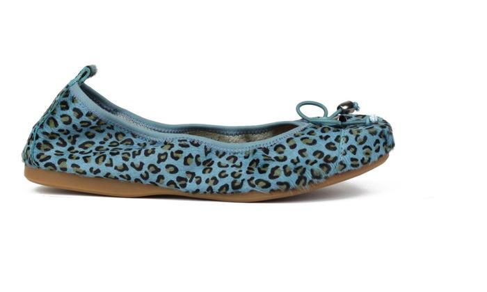 Joy & Mario Women's Beige Leopard Print Espadrille Flat Shoes