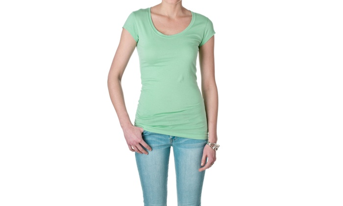 Active Basic Short Sleeve Scoop Neck Tee 8755-5