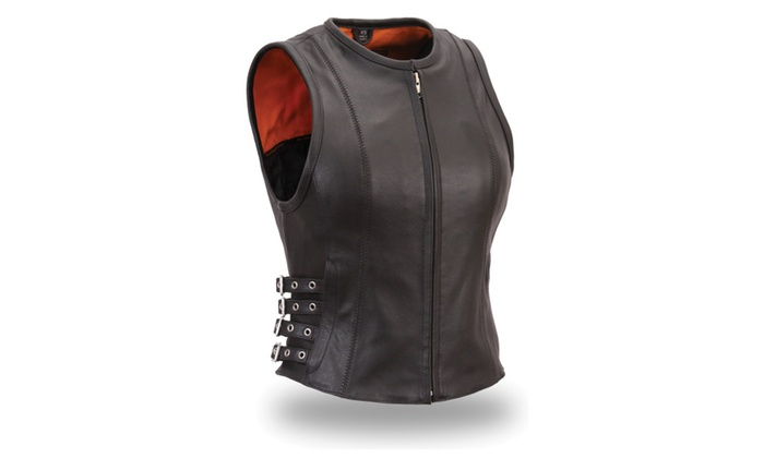 The Brittany Leather Women's Vest – SMALL MED LARGE XLARGE 2XLARGE 3XLARGE 4XLARGE 5XLARGE