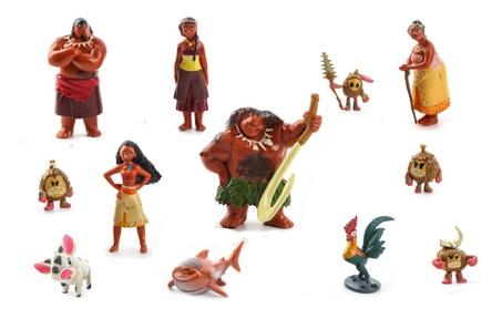 12 Pcs Mini PVC Action Figures Toys Disney Movie Moana Decoration Gift 5557863a-bc83-4c00-9b49-3d1c9aa09076