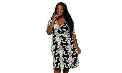 1ac099ece1f Shop Groupon Xehar Women s Plus Size Casual Sexy Floral Wrap Summer Midi  Dress