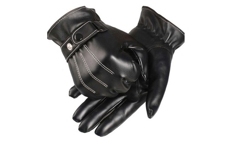 Leather Gloves Full Finger Men Motorcycle Driving Winter Warm Touch d8a0f8ba-edab-451e-86b5-65ebedd9a32e