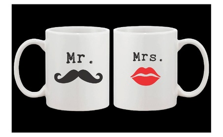 Mr Mustache And Mrs Lips Couple Mugs His And Hers Matching Mug Cup Set 8d3937c9-034c-438d-bd96-c26ef2c87bef