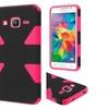 Insten Hard Hybrid Case For Samsung Galaxy Grand Prime Black/hot Pink