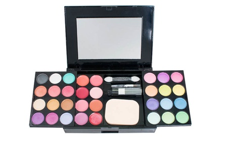 New Matte Shimmer Eyeshadow Palette Makeup Kit Set + Brush Mirror b485e764-dd33-427e-8d22-fc60a11a5d02
