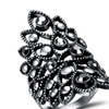 Retro Punk Silver Color Large Party Women's Ring
