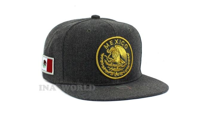 423013a88a6 MEXICAN Hat Federal Logo Embroidered Baseball Cap Flat Bill