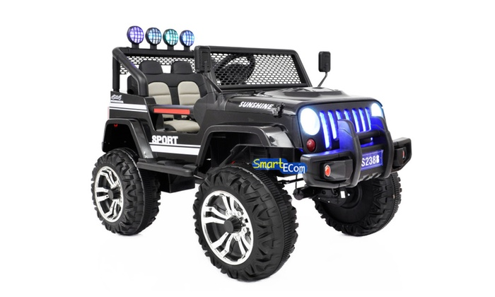 New 2 Seater Off Road 12v Ride On Car Kids Power Wheels RC Black