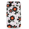 Insten Flower Hard Rubber Case For HTC Droid Incredible 2 6350 White/Black