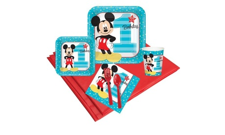 Disney Mickey Mouse 1st Birthday 48 Guest Party Pack cd3c5f39-607f-44c0-8ca3-62a00961173b